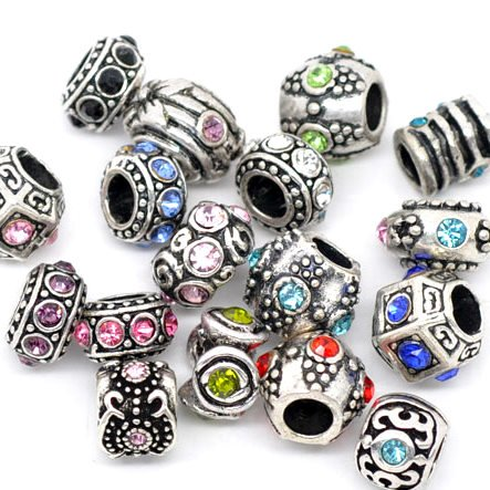 Assorted Crystal Rhinestone Beads