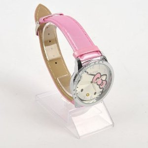 Hello Kitty Big Watch with Pink Pearled Strap
