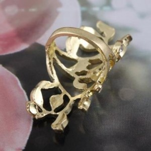 Amazon Jewelry Deals Retro Rhinestone Gold Flower Ring