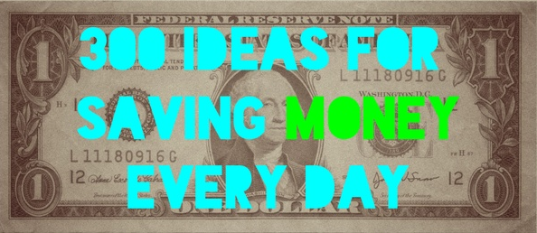 100 ideas for saving money