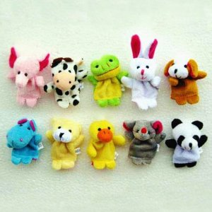 Animal Finger Puppets 10 Piece Set
