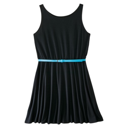 Xhilaration Juniors Belted Skater Dress - Assorted Colors