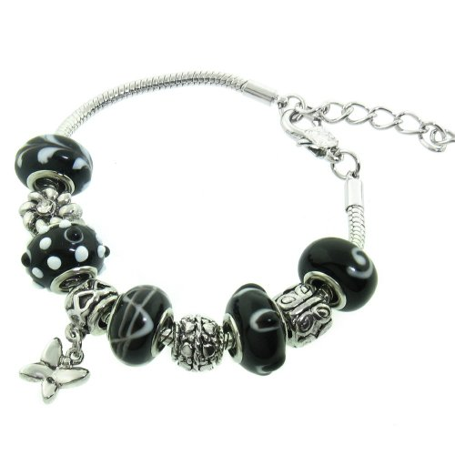 Murano Style Glass Beads and Charm Bracelet - Frugal Gift Idea - Amazon Deals