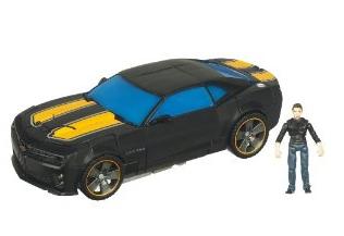 Игрушки Трансформеры Фигурка Бамблби + Сэм Уитвики (Transformers Bumblebee+ Sam Witwicky (Hasbro) (Dark Moon) /15 см.
