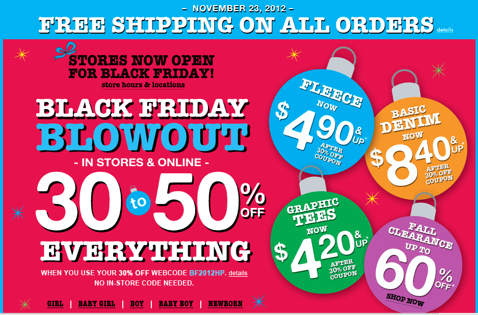 the children's place black friday deals