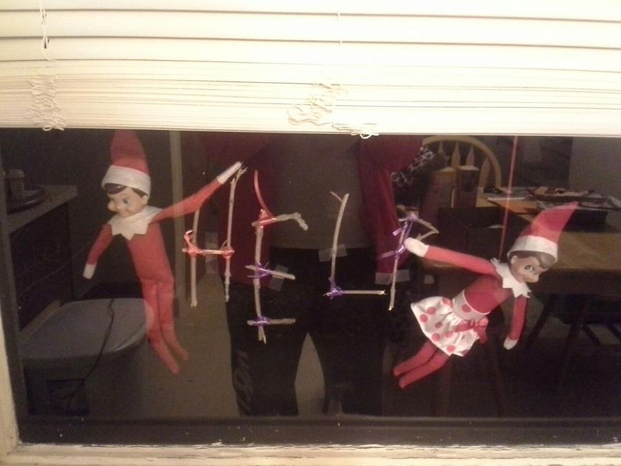 elf on the shelf ideas getting into mischief