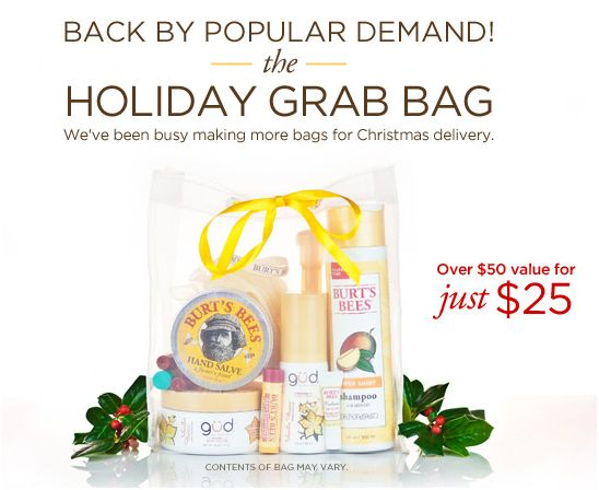 Burt's Bees Grab Bag - Frugal Gift Ideas