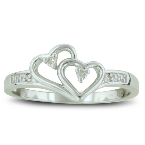 Double Heart Diamond Promise Ring - Amazon Jewelry Deals