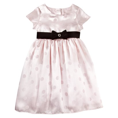 Infant Toddler Girls Sleeveless Satin Dot Dress - Target Clothing Clearance