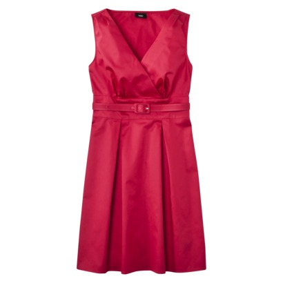 Mossimo® Womens Faux Wrap Belted Dress