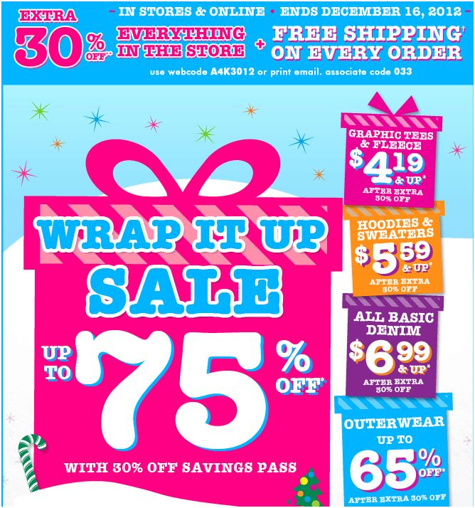The Children's Place Wrap it up Sale - Frugal Gift Ideas
