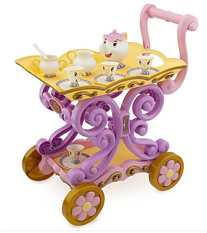 The Disney Store Twice Upon a Year Sale - Mrs Potts Tea Cart - Beauty and the Beast