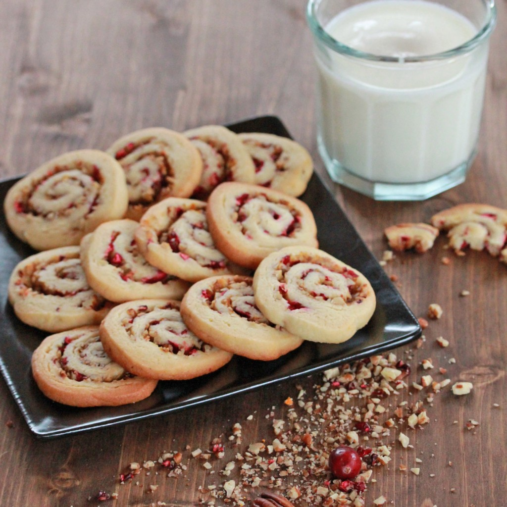 christmas treats cranberry pecan pinwheels