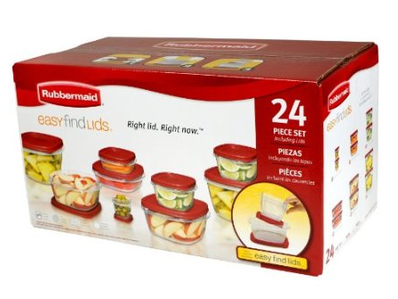 Rubbermaid Easy Find Lid 24-Piece Food Storage Container Set