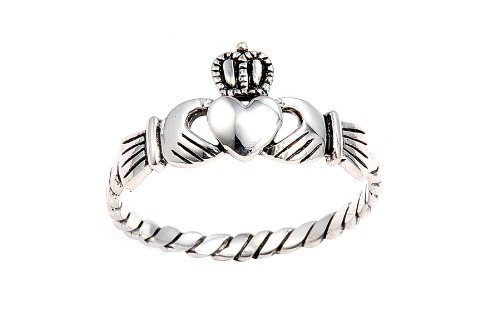 Sterling Silver Irish Friendship & Love Claddagh Ring - Amazon Jewelry Deals