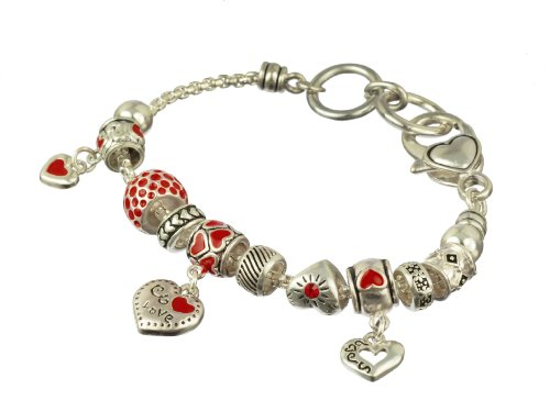Valentine's Charm Bracelet - Amazon Jewelry Deals