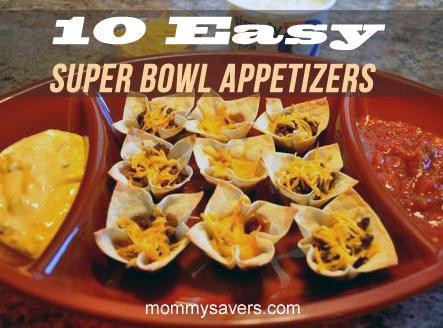 Ten Easy Super Bowl Etizers