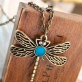 Retro Style Bronze Dragonfly Pendant Necklace - Amazon Jewelry Deals