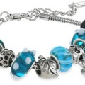 Charmed Feelings Murano Style Glass Beads and Charm Bracelet - Amazon Jewelry Deals