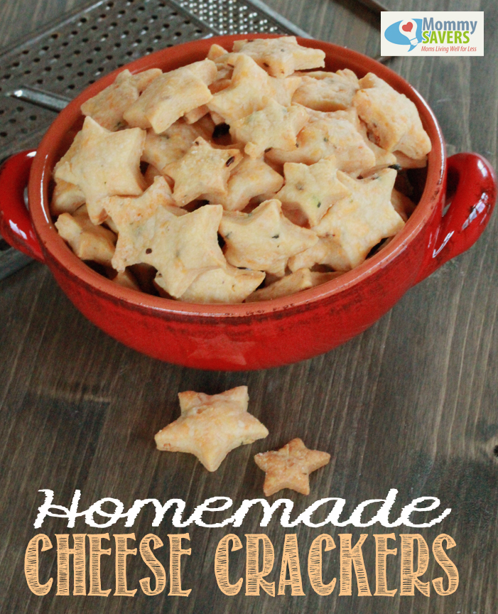 Homemade Cheese Crackers Recipe | Mommysavers.com