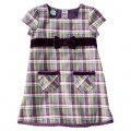 Infant Toddler Girls' Short-Sleeve Plaid Front Pocket Dress - Purple - Target Online Clearance