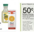 walgreens deals, simply lemonade