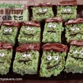 Halloween Treats: Frankenstein Rice Krispy Bars