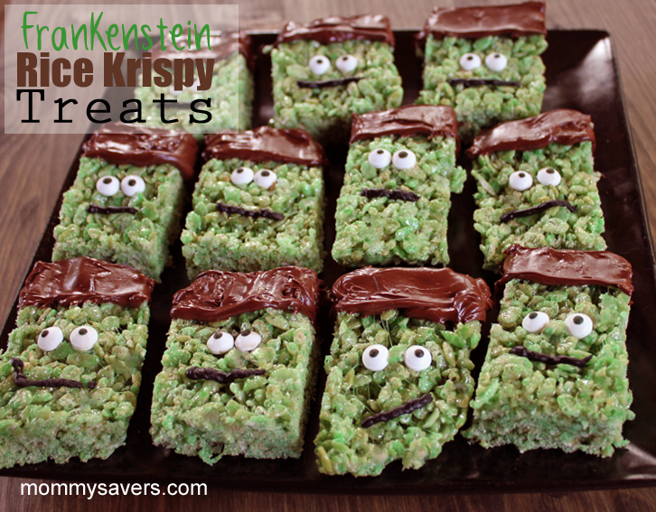 Halloween Treats: Frankenstein Rice Krispy Treats | Mommysavers.com