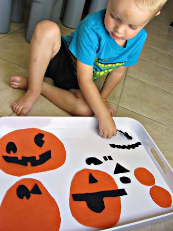 halloween felt jack o lantern puzzles