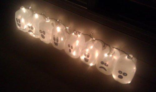 halloween ghost lights craft