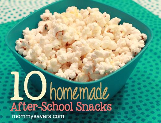 homemade after-school snacks