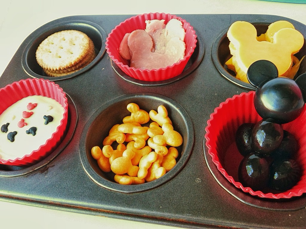 Mickey Mouse Muffin Tin Meal