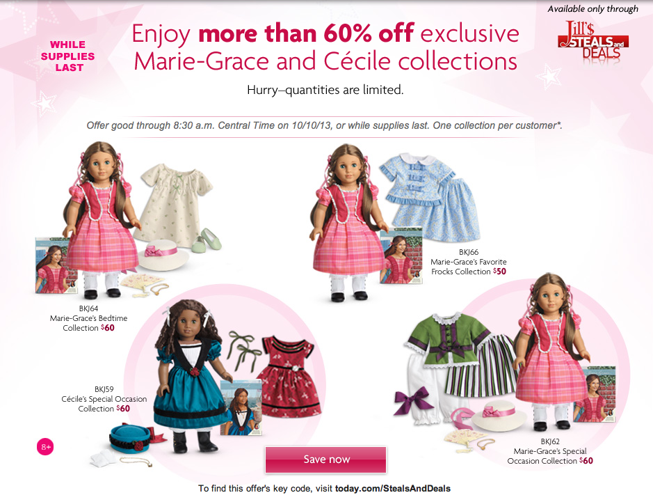 jill's steals and deals american girl doll