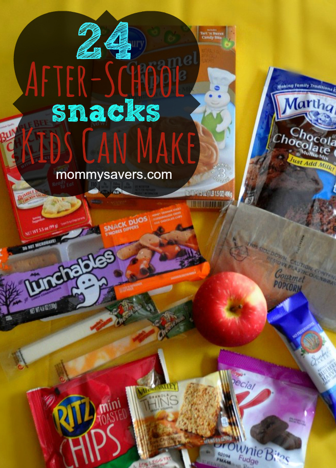 after-school snacks kids can make