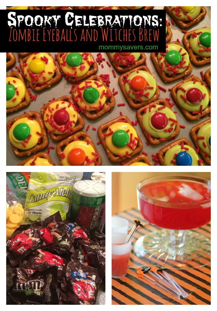 Halloween Celebrations:  Zombie Eyeballs with M&M's + Halloween Punch #shop #cbias #spookycelebrations