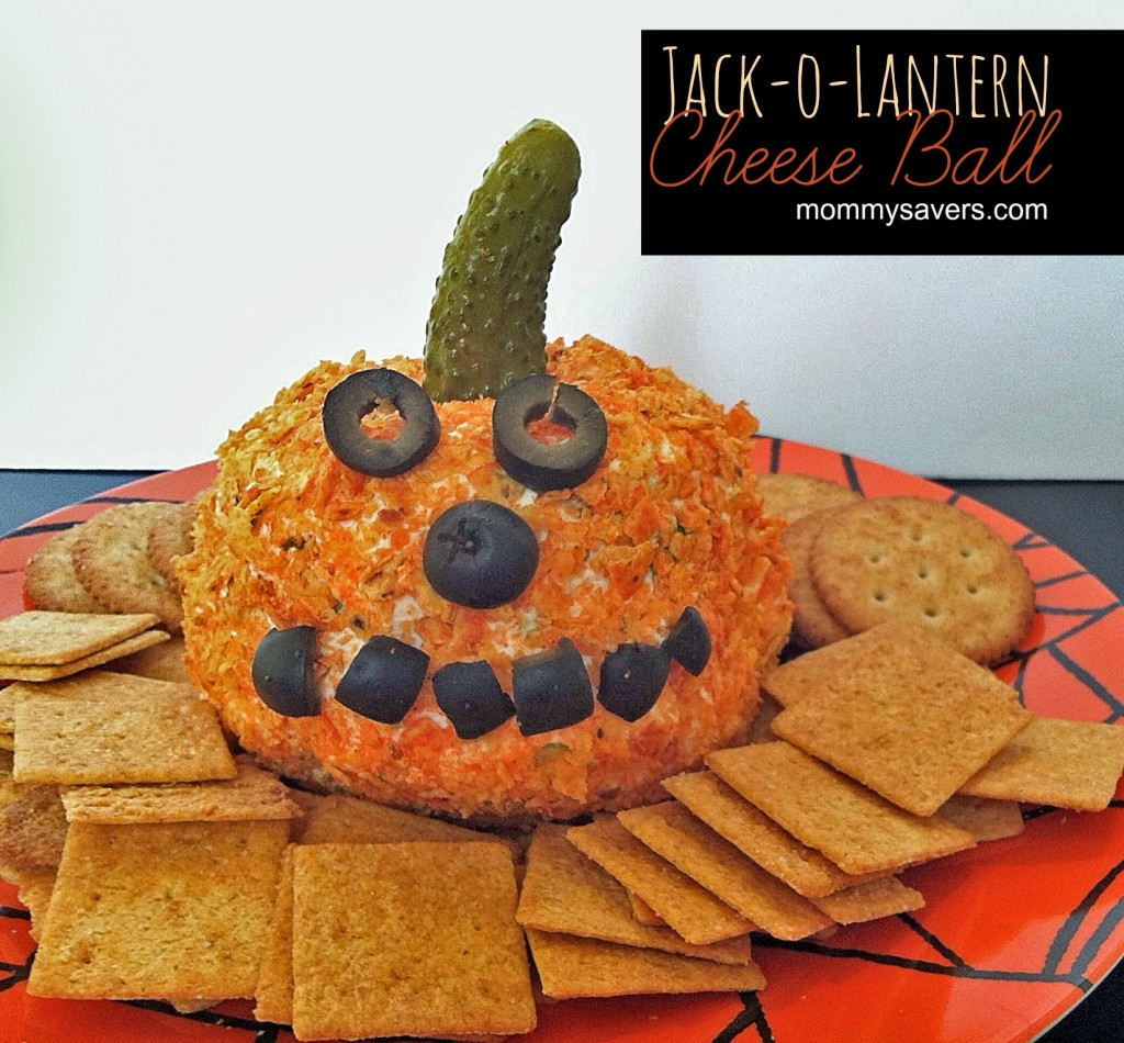 Halloween Recipes: jack-o-lantern cheese ball
