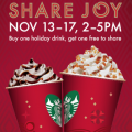 starbucks bogo event 2013