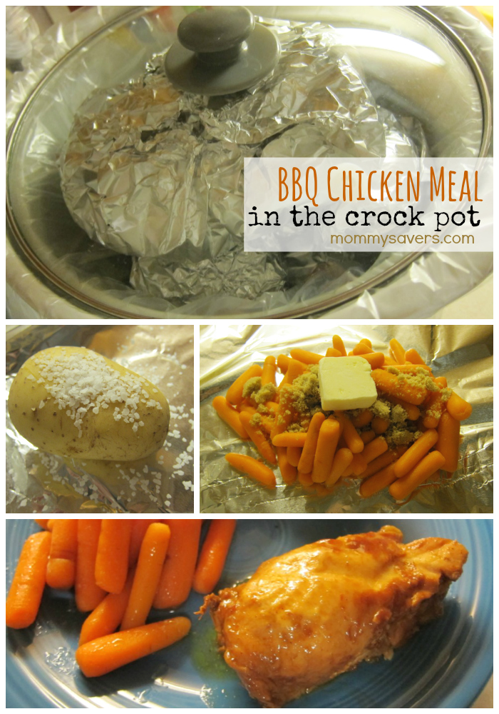 BBQ Chicken in the Crock Pot (along with sides, too!) - Create and ENTIRE mouth-watering meal in just six hours!
