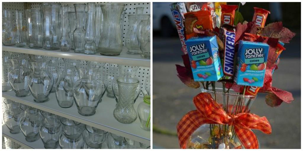Thrift Store Gift Ideas - Candy Bouquet