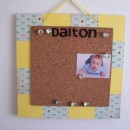 homemade gift idea bulletin board