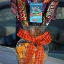 homemade gift idea candy bouquet