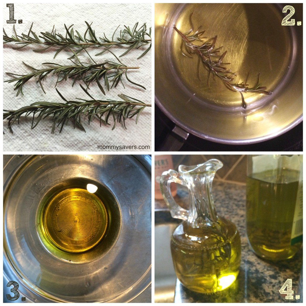 DIY Rosemary Infused Olive Oil - Great for dipping!  | Mommysavers.com