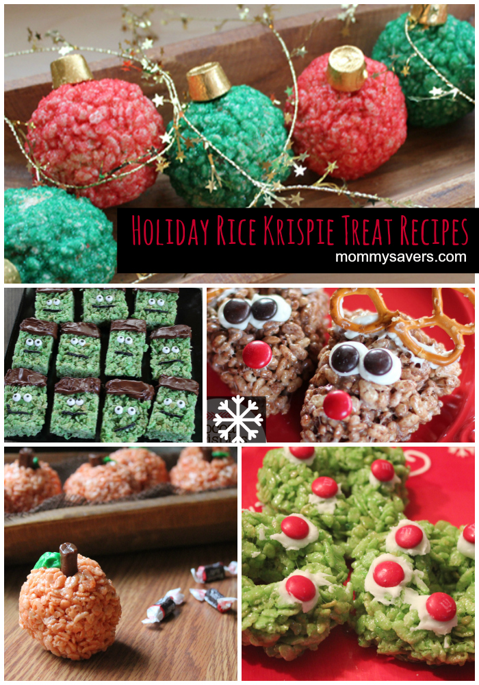 5 Holiday Rice Krispie Treat Recipes