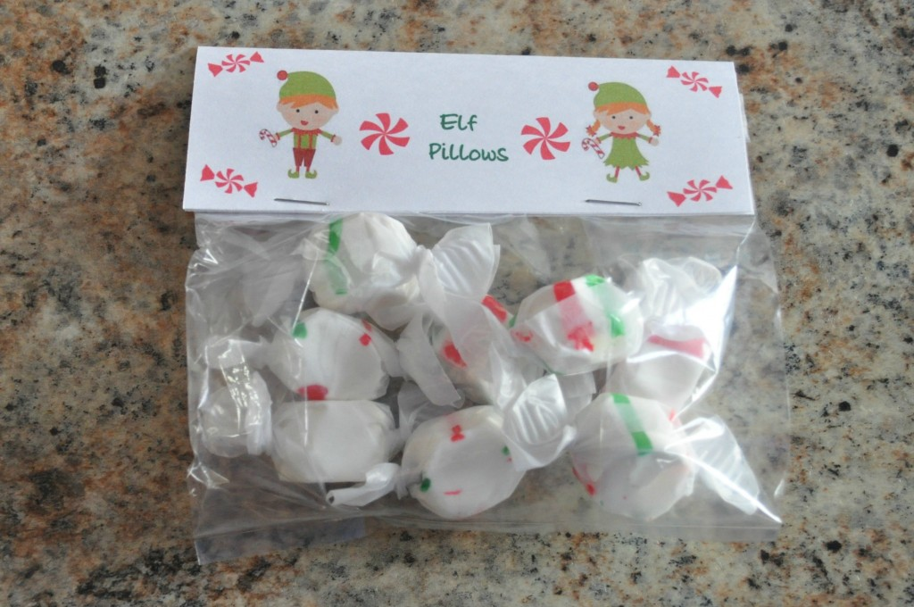 christmas bag treat ideas, elf pillows