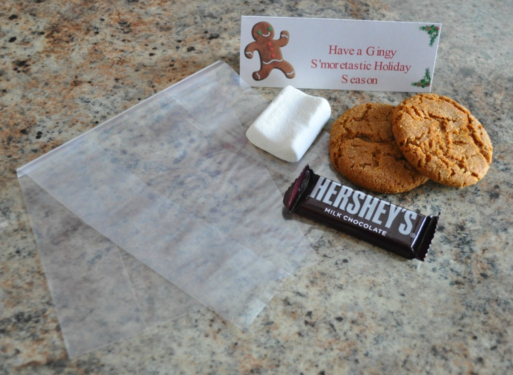 christmas treat bag ideas, gingy s'more