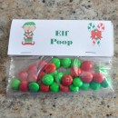 christmas treat bag ideas, elf poop