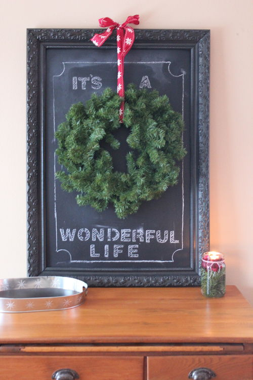 Homemade Christmas Decorations:  Christmas Chalkboard