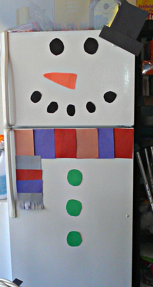 Homemade Christmas Decorations:  Frosty the Refrigerator