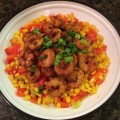 Chile Dusted Shrimp with Corn and Peppers