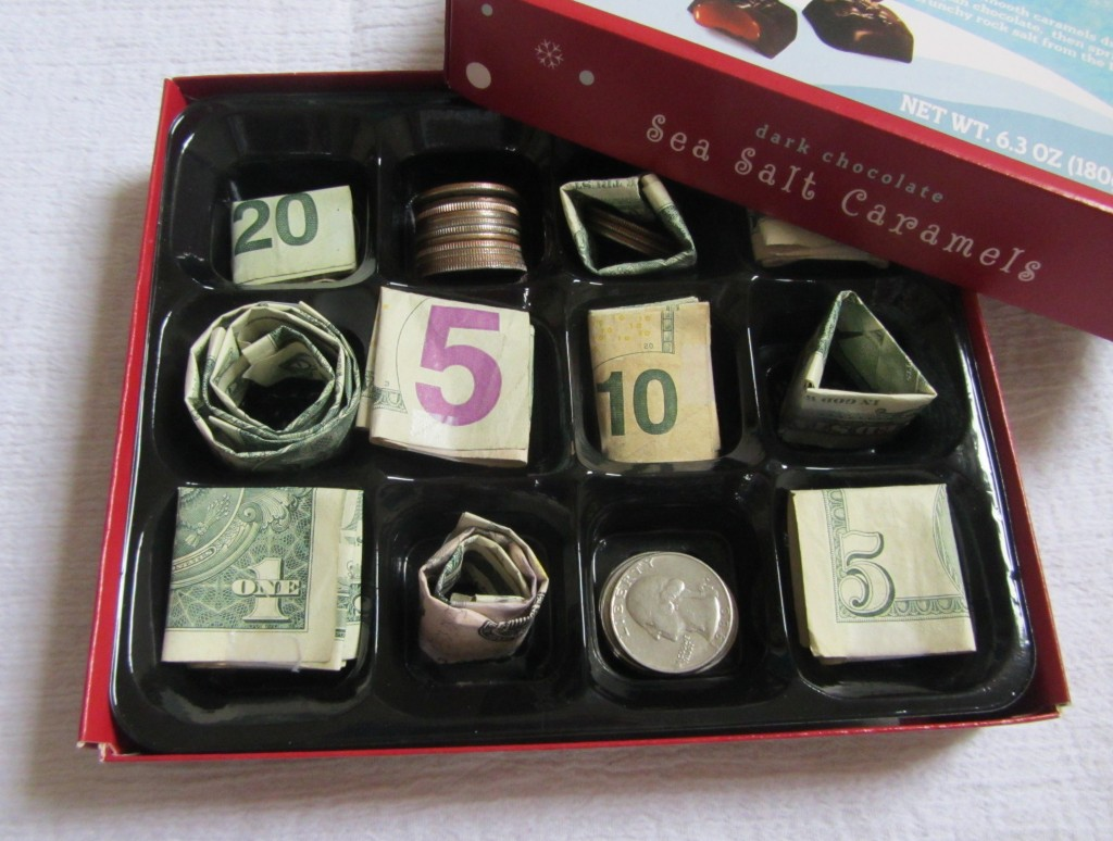 Money Gift Ideas Money Chocolate Box Mommysavers